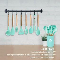 Mibote 10 Pieces Silicone Cooking Utensils Kitchen Utensil S