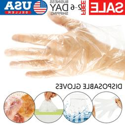 100-500PCS Plastic Clear Gloves For Kitchen Food Cleaning Ca