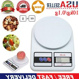 10kg/0.1g Digital Kitchen Scale Food Electronic Gram Scales