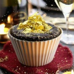 10Pcs 8x8cm 24K Gold Leaf Sheets Edible For Cooking Cakes Ch