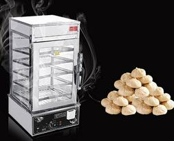 110V Commercial Steamed Bun Bread Steamer Cooking Machine Fo