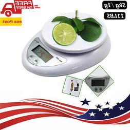 11LB 5kg/1g Digital Kitchen Scale Food Electronic Gram Scale