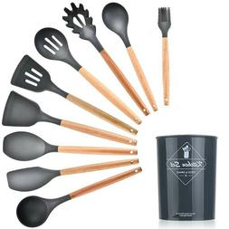 12 pcs Kitchen Silicone Cooking Utensils Set Non-stick  Kitc