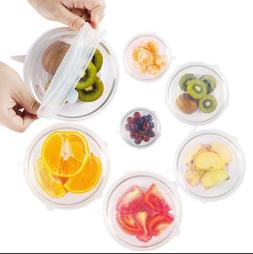 12 PCS/Set Universal Silicone Lids Stretch Suction Cover Coo