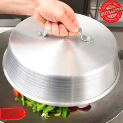 """13"""" Aluminum Restaurant Kitchen Round Aluminum Silver Dome C"""
