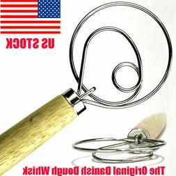 "13"" Stainless Steel Danish Dough Whisk Kitchen Baking Tools"