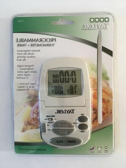 Taylor 1470N Digital Cooking Programmable Thermometer w/ Pro