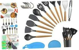15 Pcs Silicone Kitchen Utensils Cooking Utensil Set Cooking