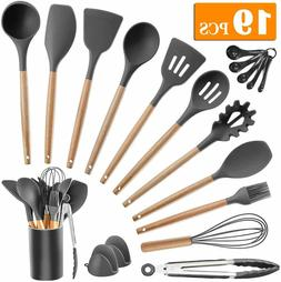 Kitchen Utensil Set Silicone Cooking Utensils 19pcs Tools Wo