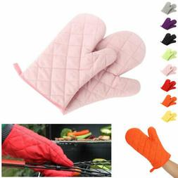 1Pair Oven Gloves Cooking Pot Holder Cotton Thick Heat Resis