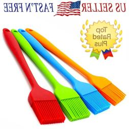 """2/5PCS 8"""" Silicone Basting Pastry Barbecue oil Brush for BBQ"""