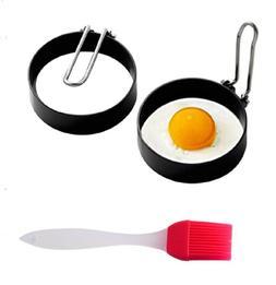 2 Pcs Non Stick Fried Egg Shaper Stainless Steel Pancake Rin