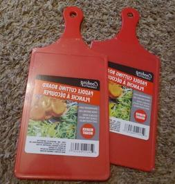 2. Red Paddle Shaped Cutting Board double sided plastic serv