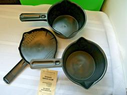 Pampered Chef 2 Small Microwave Cooking Pots 4 Cup 1 Quart #
