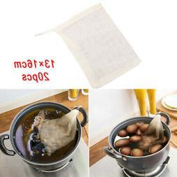 20 Reusable Mesh Cotton Nut Milk Juice Cloth Bag Filter Cook