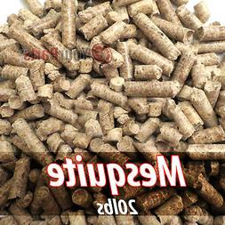 20lbs Of 100% Pure Mesquite Wood Cooking BBQ Pellets Smoker