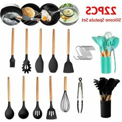 22pcs Kitchen Utensils Set Non-Stick Silicone Cooking Tools