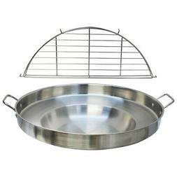 23'' Wide Stainless Steel Concave Comal Griddle Pan WITH RAC