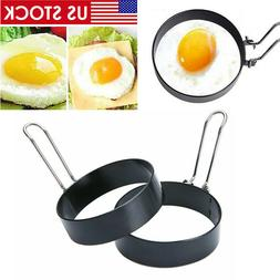 2Pack Round Egg Ring Pancake Mould Stainless Steel Non-stick