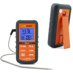 2PCS Digital LCD Meat Thermometer Cooking Smoker Oil Grill B