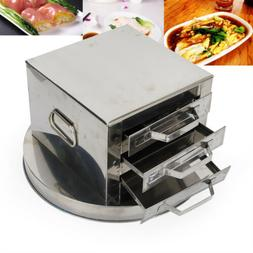 3-layer Steamer drawer Stainless Steel Cooking rice noodle F