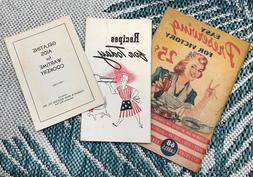 3 RARE Preserving Victory Recipe for Today Wartime Cookbooks