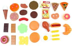 30pc Fast Food & Dessert Play Food Kitchen Cooking Set for K