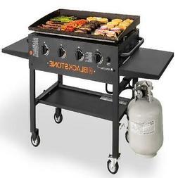 """Blackstone 4-Burner 36"""" Griddle Cooking Station with Side Sh"""