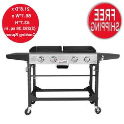 4-Burner Portable Propane Gas Grill Wheeled Outdoor Picnic B