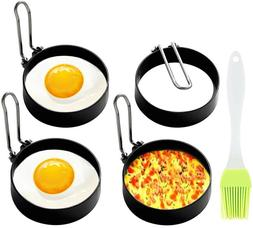 4 Pack Egg Rings Mold for Cooking Stainless Steel Round Egg