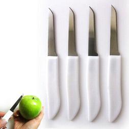 4 Paring Knives Stainless Steel Set Sharp Kitchen Blades Cut