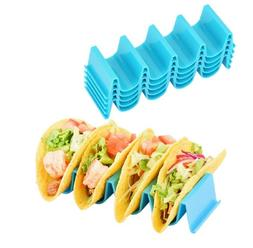 4 Pcs Taco Holder Mexican Food Wave Shape Hard Rack Stand Ki