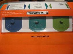 "Le Creuset 4"" Silicone Knob Lids / Set Of 3 Air Tight Seals"