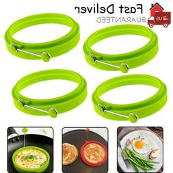 4PCS NEW Egg Fried Mold Silicone Ring Pancake Silica Gel Kit