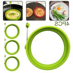 4pcs Nonstick Egg Pancake Cooking Tool Egg Ring Maker Egg Co