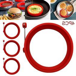 4Pcs Silicone Egg Fried Ring Round Mold Pancake Mold Breakfa