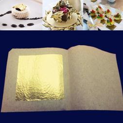 5/10/50/100pcs 24 Karat Edible Gold Foil Leaf Cooking Food W