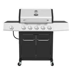 5 burner gas grill w side burner