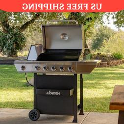 5-Burner Propane Gas Grill BBQ Barbecue Outdoor Cooker Cooki