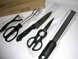 5 Cooking Utensil Grater Chef Knife Serving Tongs Scissors P