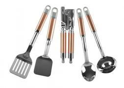 Kitchenaid 5 Piece Kitchen Tool Cooking Utensil Set Copper K