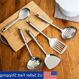 5 Pieces Stainless Steel Cooking Utensil Set Kitchen Skimmer