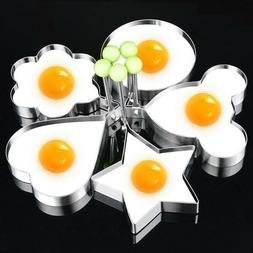 5Pcs Fried Egg Non Stick Stainless Steel Pancake Ring Mold C
