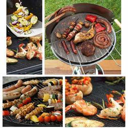 5Pcs Grilling Sheet Liner Outdoor Baking BBQ Mesh Cooking Fi