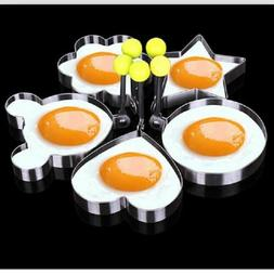 5Pcs Stainless Steel Pancake Mould Mold Ring Cooking Fried E