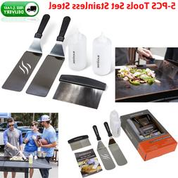 5x Griddle Accessory Tools Kit Flat Top Accessories BBQ Cook