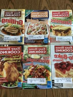 6 Cooking Magazines Easy Home Cooking Mini Cookbook 2007