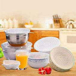 6Pcs Universal Silicone Stretch Lids Suction Cover Cooking P