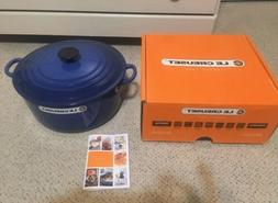 Le Creuset 7.25 qt French  Oven in Cobalt Blue - New In Box!