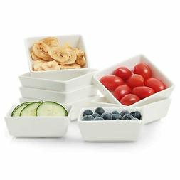 8-Piece Square Ramekin Bowls for Baking and Cooking Porcelai